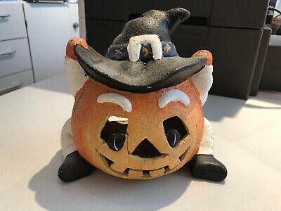 Halloween Herbst Deko Kürbis Teelicht
