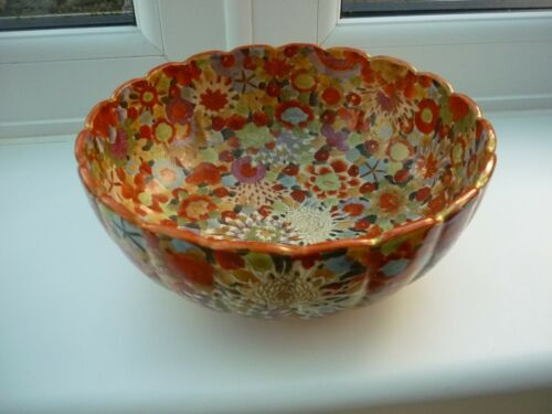 Antique Japanese Satsuma Millefiori Bowl Signed Meiji period in Great Condition