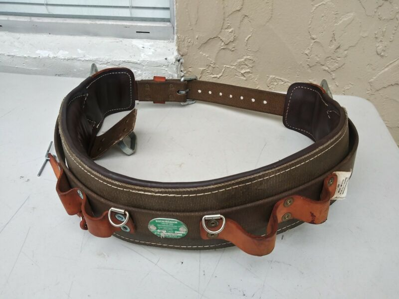 Buckingham Linemans Safety Climbers Tree Climbing Belt Size 32 Made in USA