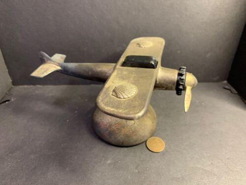 Rare 1932 Demley Airplane Lighter for Shell Oil, Doolittle & Haizlip Signatures