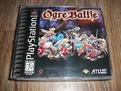 Ogre Battle for PS1 Playstation 1 CIB with Manual Black Label Limited Edition comprar usado  Enviando para Brazil
