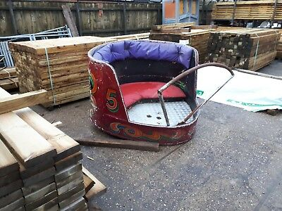 Fairground waltzer car carousel circus upcycle decorative reclaimed seat booth for sale  Grimsby
