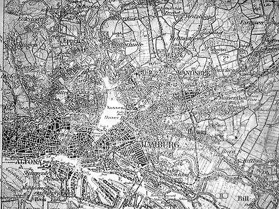 Karte des Deutschen Reiches, Manöver 17. Div. 1908, östlich von HH, 1:100.000