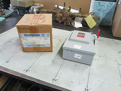 Westinghouse Heavy Duty Safety Switch Hfn221 30a 240 Ac 250 Dc 2 Poles Nib