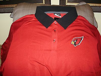 Arizona Cardinals Nfl Mens Coaches (NFL Arizona Cardinals NIKE Dri Fit XP Elite Coaches Polo Golf Shirt Men's 3XL )