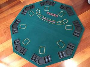 Fold up POKER/CARD table top - 8 players hexagon - plus carry bag Magill Campbelltown Area Preview