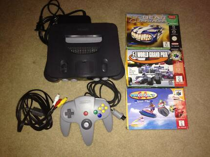 Nintendo 64 N64 Grey Console, With Controller and 3 Boxed Games! Fulham Gardens Charles Sturt Area Preview