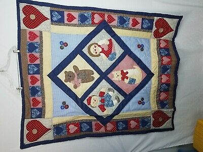 Sunham Home Fashions - Sunham Home Fashions Cotton w/Polyester Fill childs Quilt,Hearts,Buttons 50X60