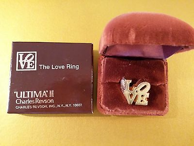 2 New Vintage 1970  Love Rings designed by Robert Indiana for Charles Revson, .