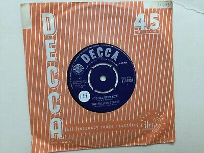 THE ROLLING STONES:  Its All Over Now / Good Times, Bed Times 1964 UK DECCA