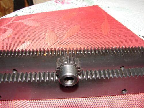 "CNC Step Motor Mechcanic  Rack & Gear 48"" (2X24""pcs) Rack & 5/16"" 15T PinionGear"