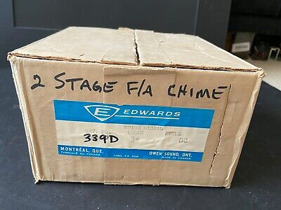 Nib New Vintage Est Edwards 339d 2-stage Fire Alarm Chime