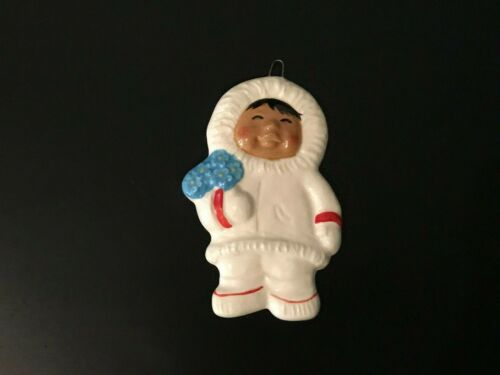 STATE FLOWER  Eskimo  SNOWBABIES - ALASKA CLASSICS ORNAMENT  By C. ALAN JOHNSON