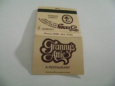"1- Match Book, ""GRANNY'S ATTIC RESTAURANT"", San Jose, CA., complete."