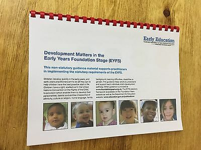 EYFS Development Matters in the Early Years Foundation Stage