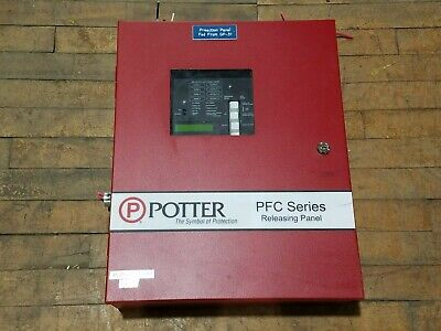 Potter Pfc-4410rc Agent Releasing Control Panel Fire Alarm System 5150357-01-c