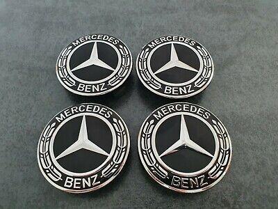 4x Mercedes Radkappen Nabendeckel für Mercedes Benz 75 mm Schwarz  online kaufen