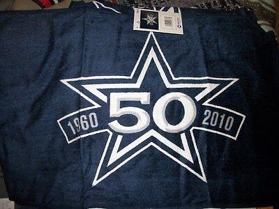 NFL DALLAS COWBOYS FOOTBALL 50 YEAR STAR 1960-2010 TOWEL 25