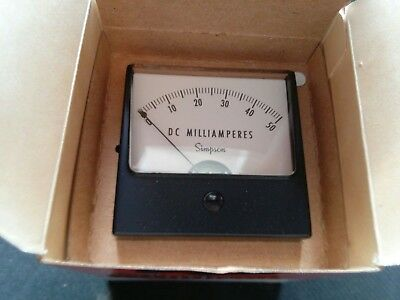 06230 Simpson Analog Panel Meter
