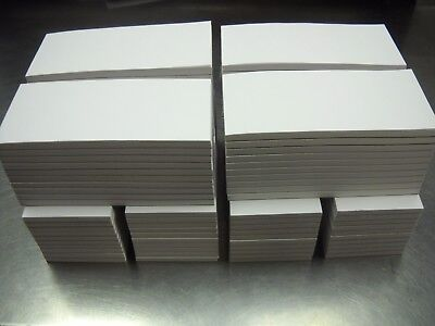 100 Scratch Memo Pads Blank 2 1/2 x 5 1/2  White 50 Sheets per Pad, - Note Pads