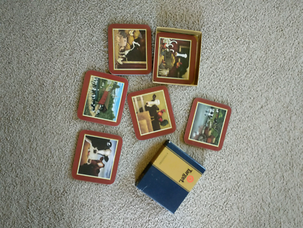 6 coasters - country farm / cow designs