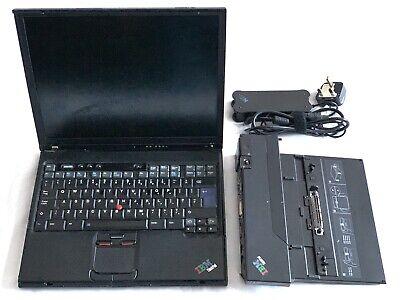 IBM ThinkPad T40 PC Laptop Computer and Docking Station