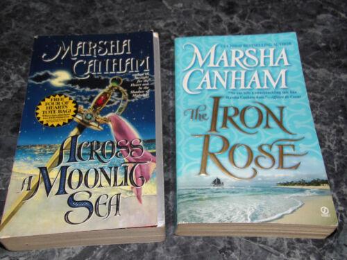 Marsha Canham lot of 2 Pirate Wolf Series Historical Romance Paperback