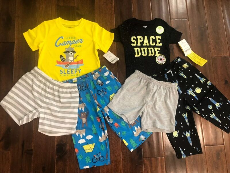 6 Piece Lot Of Baby Boy Spring/Summer Pajamas Size 12 Months NWT