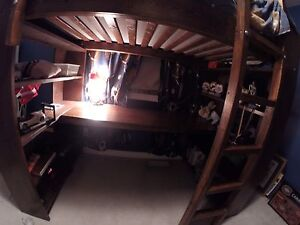 Kids single loft bed and desk