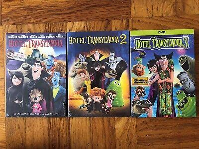 Hotel Transylvania 1-3 DVD Movie Bundle 1 2 3 USA Free Shipping!