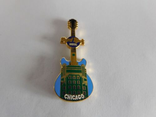 Hard Rock Cafe CHICAGO Hotel 2004 - Facade Front HRC Building Guitar Series Pin