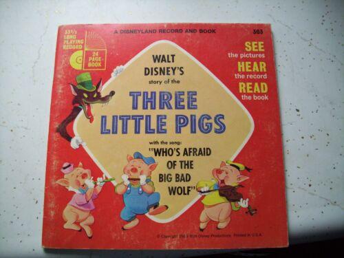 1965 Early Read Along Book & Record Walt Disney