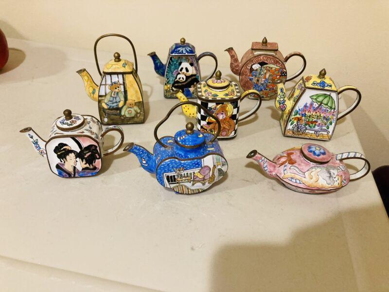 mini decorative teapot collection