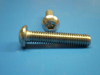 Linsenkopf Schraube M5 x 25 V2A ISO 7380 50 Stück