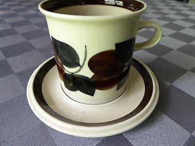 Vintage Arabia Finland Ruija Troubadour Mug and Saucer