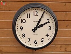 SMITHS SECTRIC WALL CLOCK. LARGE. Factory, Church, School, Railway etc. Restored
