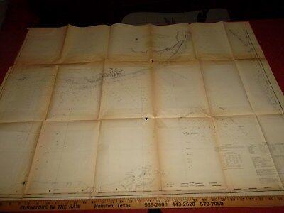 FLORIDA BAY Coast Map 1868  -  40 X 32 Inches