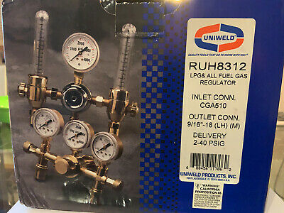 Uniweld Ruh 8312 Lpg And All Fuel Gas Regulator