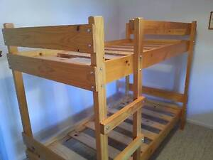 Attractive Timber Single Bunk Bed in Traditional Solid Pine Dangarsleigh Armidale City Preview