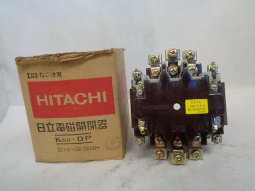 NEW HITACHI K50-DP CONTACTOR 100/110V COIL