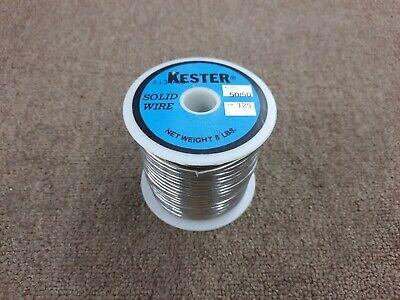 Vintage Kester Solder 5lbs 5050 .125 Solid Core Core Solder