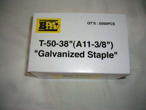 "BULK 10,000 BPA T-50- A11 - 3/8"" STAPLES 2 BOXES BY BUILDING PRODUCTS OF AMERICA"