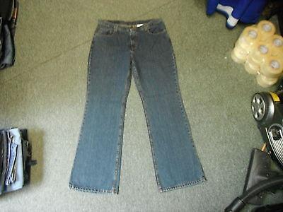"Jordache Bootcut Jeans Size 15/16 Leg 31"" Faded Dark Blue Ladies Jeans"