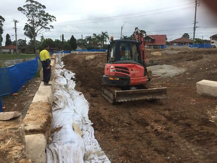 Excavation and earthmoving covering all Blacktown areas