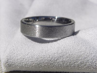 Titanium Ring, Wedding Band, Stone Finish, 5mm Width, Made Your Size, (5mm Titanium Band Ring)