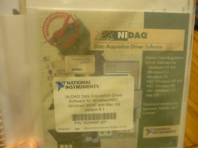 New Ni National Instruments Ni-daq 500445f-0 Software Bundle