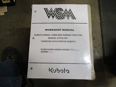 Kubota G3200 G4200 G5200 G6200 G 3200 4200 5200 6200 Tractor Repair Manual