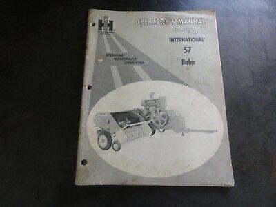 International 57 Baler Operators Manual