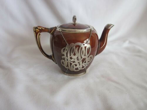 Antique Sterling Silver  Overlay Teapot