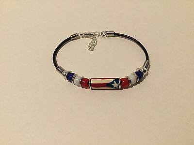 Puerto Rico Rican Boricua Bracelet or anklet Flag Beads